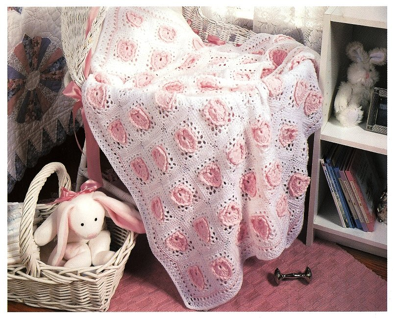 Y993 Crochet PATTERN ONLY Grandma's Sweetheart Heart Baby Blanket Pattern