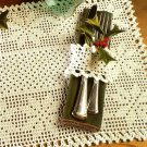 Y707 Crochet PATTERN ONLY Elegant Snowflakes Place Mat & Napkin Ring Pattern