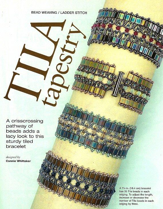 Y518 Bead PATTERN ONLY Tila Tapestry Bracelet Pattern