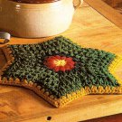W463 Crochet PATTERN ONLY Star Trivet and Gift Wrap Placemat Pattern