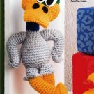 W369 Crochet PATTERN ONLY Rascally Mallard Duck Daffy Toy Doll Pattern