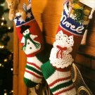 Y319 Crochet PATTERN ONLY 2 Christmas Stocking Patterns Snowflake and Noel