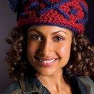 """W575 Crochet PATTERN ONLY """"X"""" Marks the Spot Tasseled Hat Pattern"""