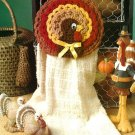 W524 Crochet PATTERN ONLY Thanksgiving Turkey Towel Holder Pattern