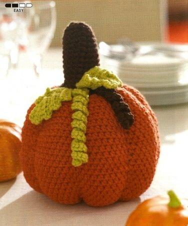 W526 Crochet PATTERN ONLY Pumpkin Centerpiece Pattern Halloween Thanksgiving