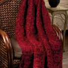 W558 Crochet PATTERN ONLY Autumn Sunset Throw Afghan Pattern