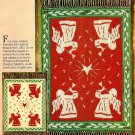 W480 Knit PATTERN ONLY Trumpeting Angels Reversible Afghan Pattern Christmas