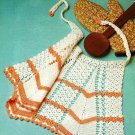 W482 Crochet PATTERN ONLY Vintage Apron Pattern
