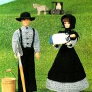 W483 Crochet PATTERN ONLY Fashion Doll Barbie Amish Family Clothes Patterns