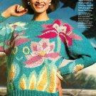 W487 Knit PATTERN ONLY Hidden Ladies Hidden City Pullover Sweater Pattern