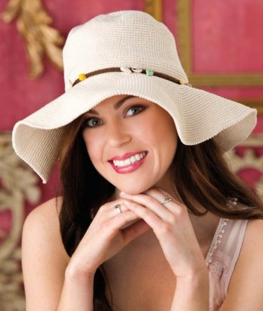 W494 Crochet PATTERN ONLY Fun in the Sun Floppy Hat Pattern