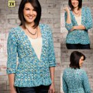 W499 Crochet PATTERN ONLY Against the Breakers Cardigan Sweater Pattern