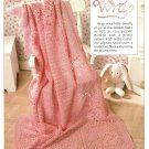 W508 Filet Crochet PATTERN ONLY Rosy Wrap Rose Motif Afghan Pattern