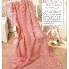 W508 Filet Crochet PATTERN ONLY Rosy Wrap Rose Motif Afghan Pattern