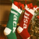 W509 Crochet PATTERN ONLY Personalized Just For You Christmas Stocking Pattern