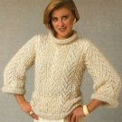 W510 Knit PATTERN ONLY Cream of the Crop Lacy Pullover Sweater Pattern Ladies