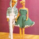 W514 Crochet PATTERN ONLY Fashion Doll Retro Ruffled Dress / Hoodie Pantsuit Pattern