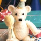 W516 Crochet PATTERN ONLY Cute Party Bear Toy Doll Pattern Hat and Balloon