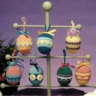 W517 Crochet PATTERN ONLY Set of 7 Easter Egg Ornament Patterns