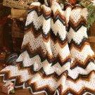 W534 Crochet PATTERN ONLY Victorian Nostalgic Noel Ripple Afghan Pattern