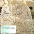 W546 Filet Crochet PATTERN ONLY Wedding Roses Afghan Throw Pattern Bride
