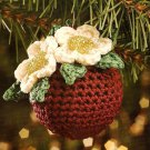 W550 Crochet PATTERN ONLY Friendship Flower Christmas Ornament Cover Pattern