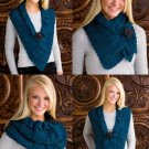 W551 Crochet PATTERN ONLY Twisted-Ridges Neck Warmer Scarf Pattern
