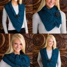 W551 Crochet PATTERN ONLY Twisted-Ridges Neck Warmer Scarf Pattern