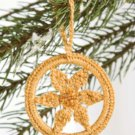 W555 Crochet PATTERN ONLY Sparkling Round Hoop Christmas Ornament Pattern