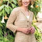 W566 Crochet PATTERN ONLY Breezy Mesh Jacket & Urban Sweater Patterns