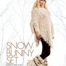 W573 Crochet PATTERN ONLY Snow Bunny Poncho Hat Kodiac Style Boots Pattern
