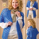 W581 Crochet PATTERN ONLY Draped in Lace Ladies Jacket Pattern
