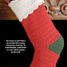 W582 Crochet PATTERN ONLY Quick & Easy Christmas Stocking Pattern