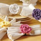W583 Crochet PATTERN ONLY Flower Fancy Scarft Tie or Napkin Ring Pattern