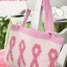 W587 Crochet PATTERN ONLY Bead Felted Awareness Purse Pattern Pink Ribbon