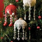 W590 Crochet/Bead PATTERN ONLY Snowflake Christmas Ornament Cover Pattern
