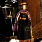 W595 Crochet PATTERN ONLY Fashion Doll Whimsical Witch Costume Pattern Barbie