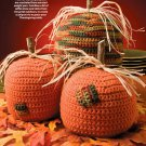 W596 Crochet PATTERN ONLY Thanksgiving Pumpkin Trio Pattern Halloween 2 Sizes