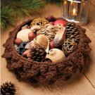 W604 Crochet PATTERN ONLY Pinecone Basket Pattern Thanksgiving Christmas