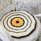 W605 Crochet PATTERN ONLY Sunflower Chair Pad Pattern