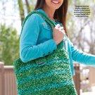 W608 Crochet PATTERN ONLY Green Fields Tote Bag Satchel Pattern
