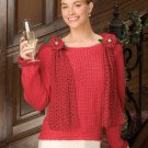 W630 Crochet PATTERN ONLY Night on the Town Fancy Sweater Scarf Pattern