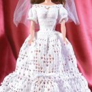 W634 Crochet PATTERN ONLY Fashion Doll Pearls & Lace Autumn Bride Pattern