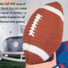 W640 Crochet PATTERN ONLY Football Toy Pattern