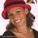 W646 Crochet PATTERN ONLY Brimmed Bow Hat Pattern