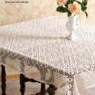 W656 Filet Crochet PATTERN ONLY Fabulous Filet Tablecloth Table Cover Pattern