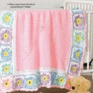 W658 Crochet PATTERN ONLY Little Pink Princess Baby Blanket Afghan Pattern