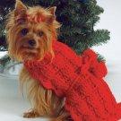 W664 Crochet PATTERN ONLY Fido's Turtleneck Dog Sweater Pattern