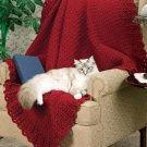 W675 Crochet PATTERN ONLY Easy Elegance Afghan Throw Pattern Beginner!