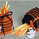 W680 Crochet PATTERN ONLY Ghouls & Goblins Halloween Treat Bags Pattern